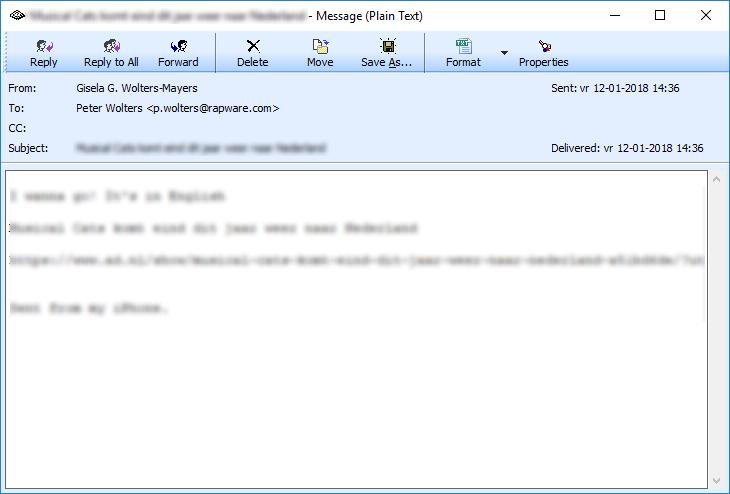 Manage Inbox | RAPWare